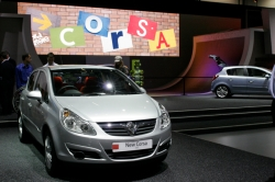 Corsa reveal on stand