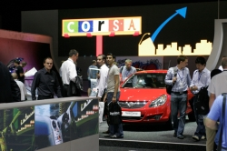 People on the Corsa stand