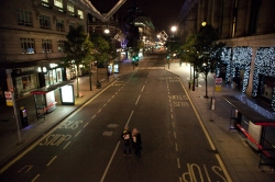 An eerily quiet Oxford Street