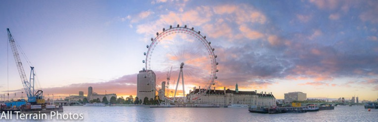 London Eye at dawn